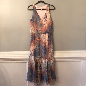 London Times Feather Print Dress